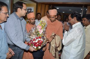 Saints of Swamy Narayan met K.CHANDRASEKHAR RAO GARU