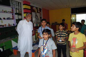 PARSHOTTAM RUPALA intaracting with SHREE NEELAKANTH VIDYAPEETH Students