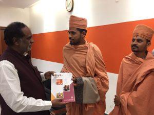 Saints of Swamy Narayan met DR. K. LAXMAN