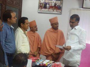 Saints of Swamy Narayan met Harish Rao