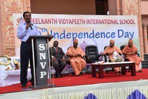 Balram Nayak speaking about Neelkanth Vidyapeeth