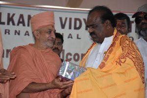 Saints of Swamy Narayan presented Memonto to S. Madhusudan Chary T.S. speaker