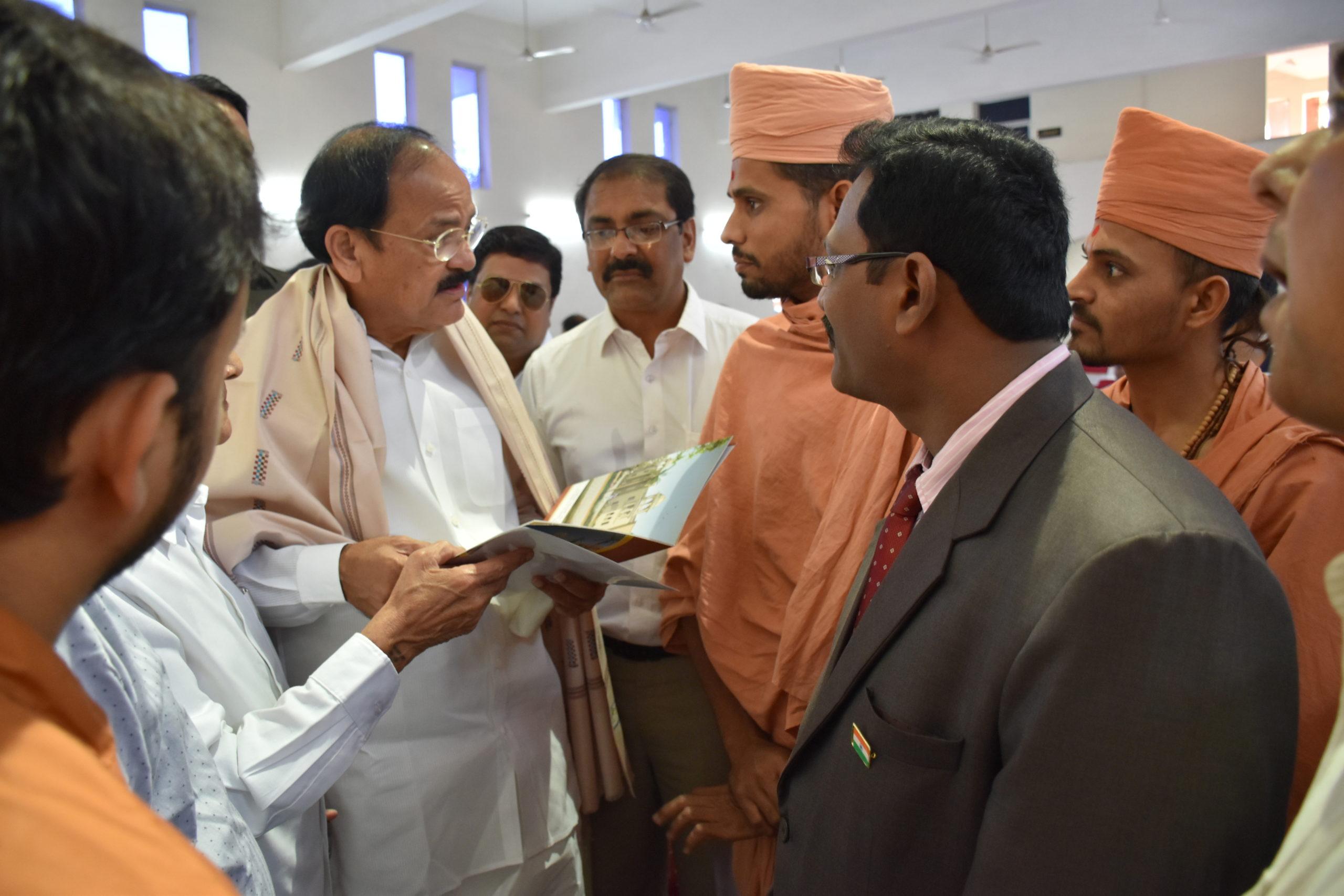 Saints of Swamy Narayan met VENKAIAH NAIDU
