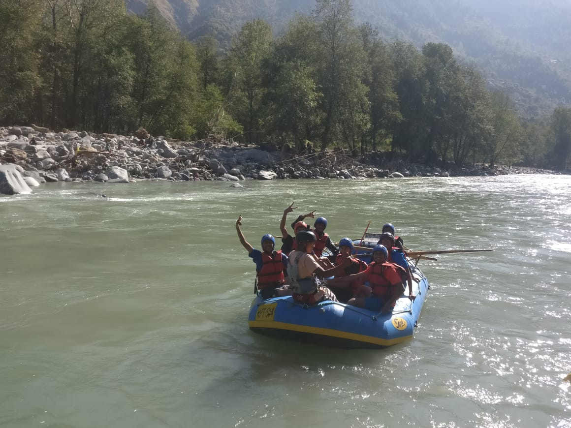 Swamy Narayan Students in Boating at Tour