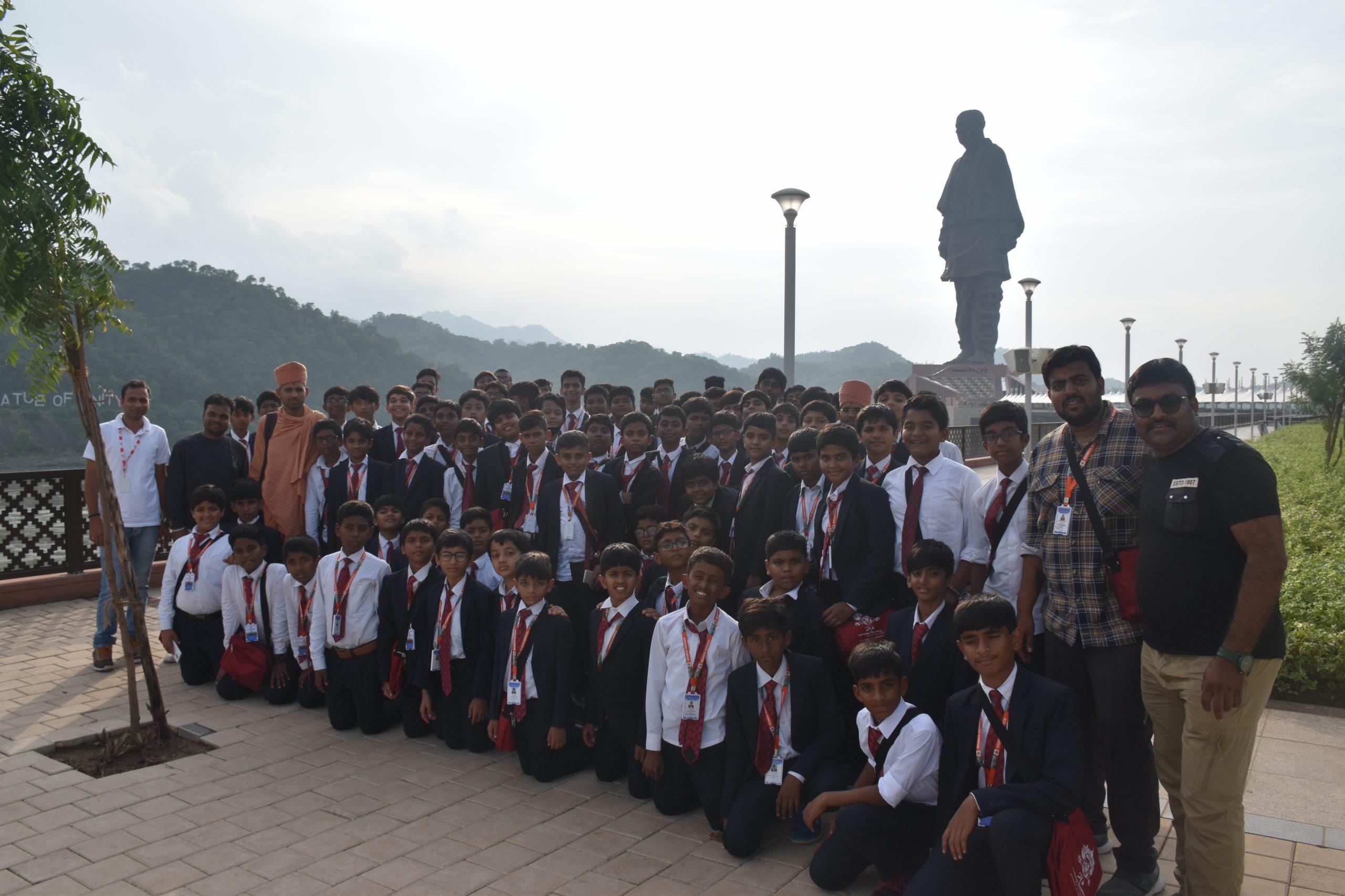 Swamy Narayan Students at Statue of Liberty