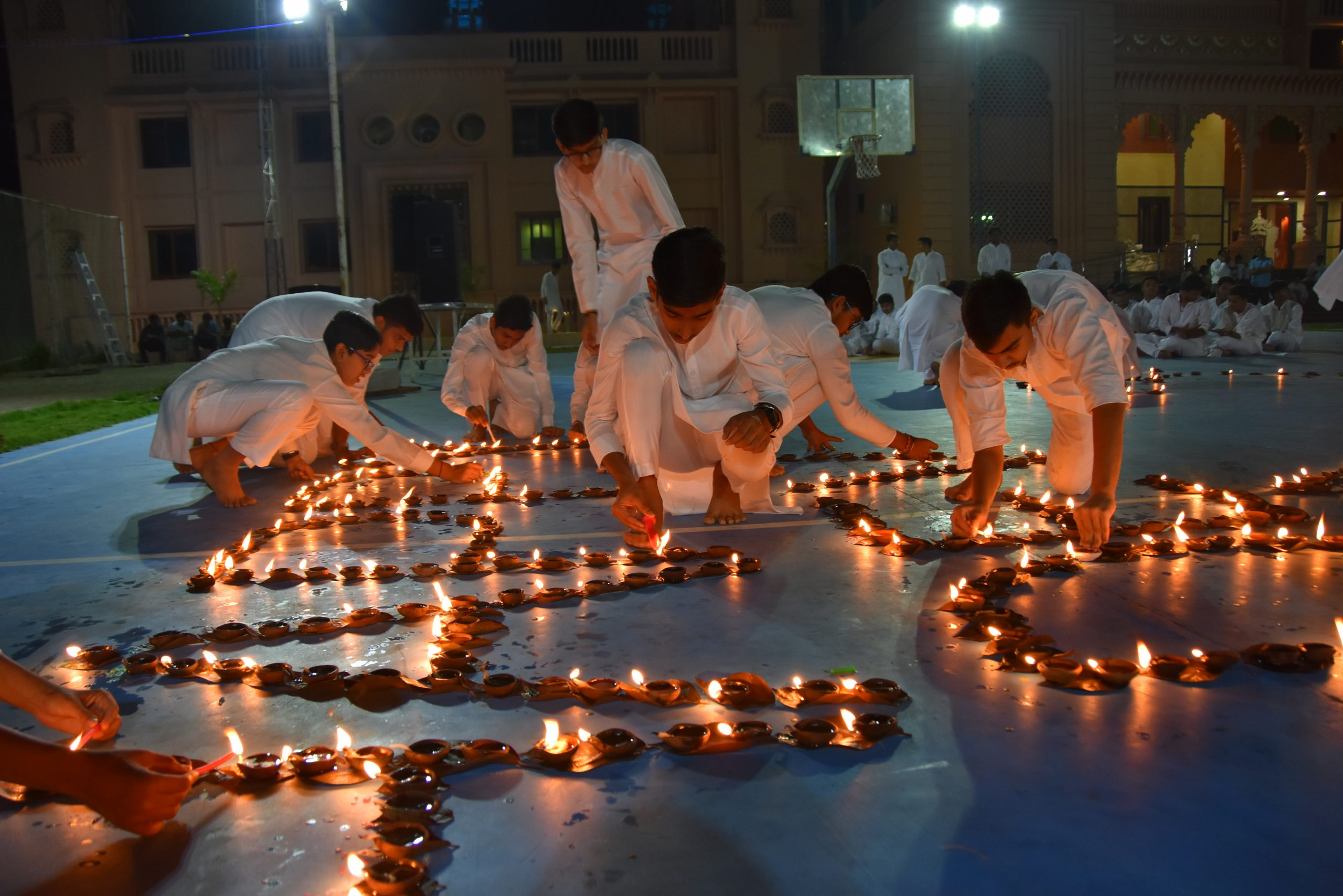 SHREE NEELAKANTH VIDYAPEETH Students Celebrating Diwali