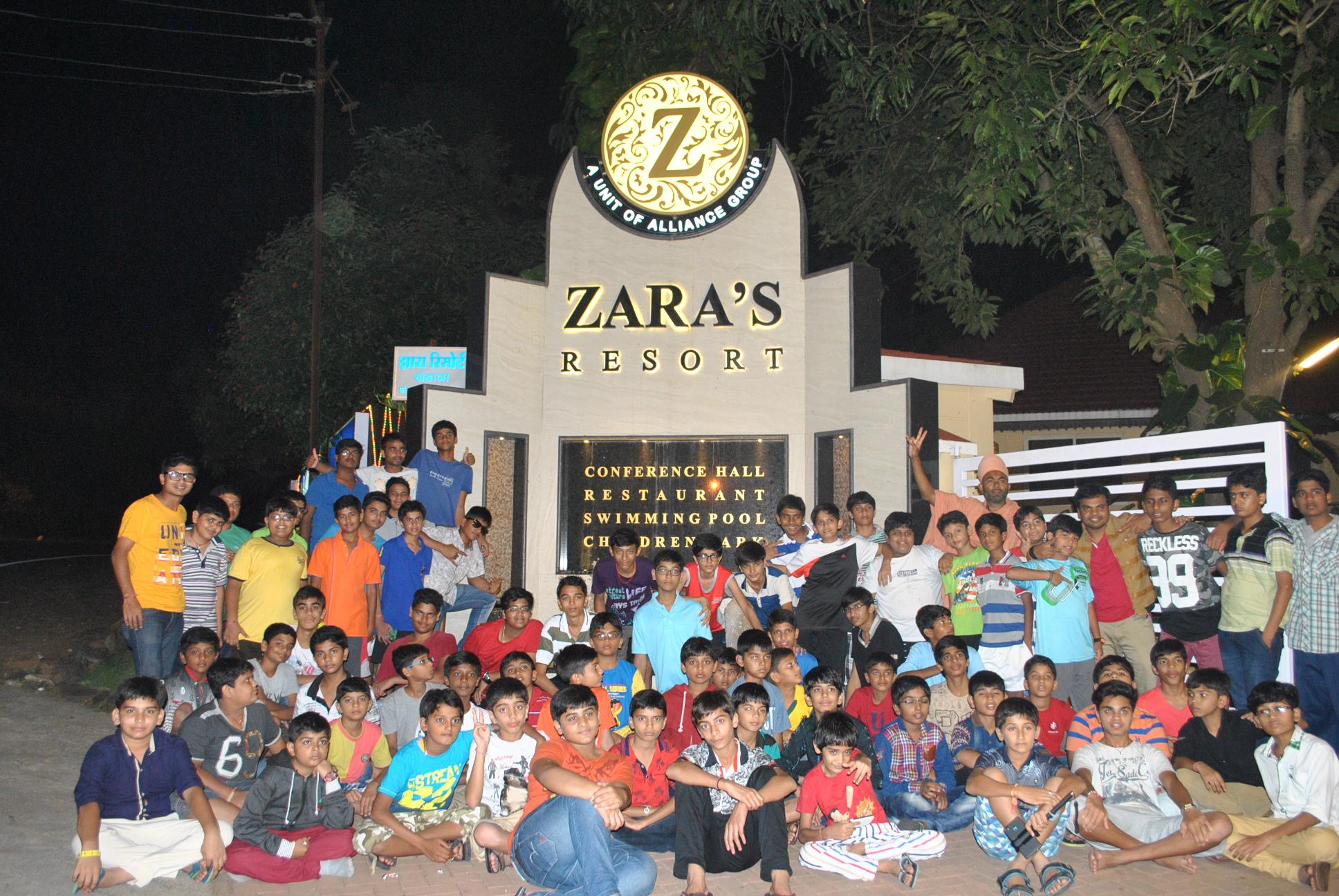 Swamy Narayan Students at ZARA'S Resort