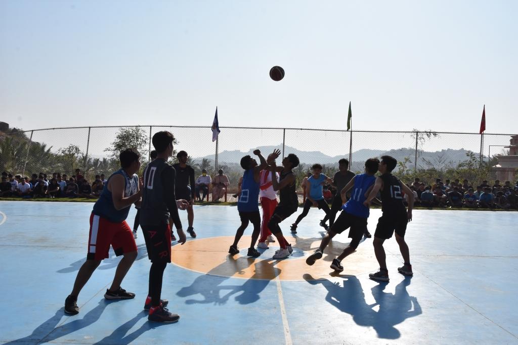 SHREE NEELAKANTH VIDYAPEETH Students Playing Volleyball